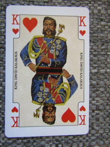 King David Kalakaua Hawaii ~1 Playing Card