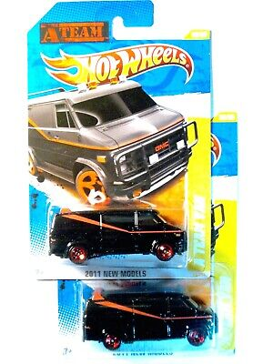2 HOT WHEELS A TEAM VANS from 2011 NEW MODELS...VERY GOOD CARDS