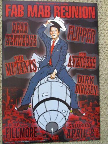 DEAD KENNEDYS FILLMORE POSTER Mutants Avengers Dirk Dirksen BGF771 Chris Shaw