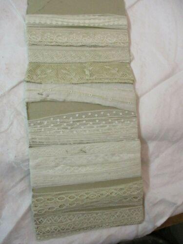 Antique 9 pcs white ecru Lace Passementerie