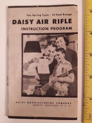 """RARE AMERICAN (ARKANSAS) """"DAISY AIR RIFLE - INSTRUCTION PROGRAM""""- SPRING TYPE for sale  Tillsonburg"""