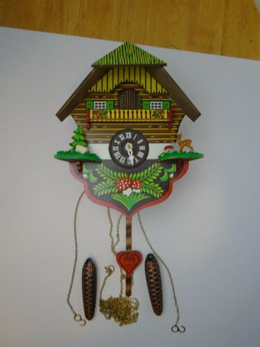 Vintage Cukoo Clock, Made In West Germany Regula A25-86 Untested looks unused