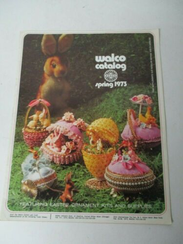 1973 Walco Spring Easter 1973 Beaded & Panorama Easter Ornament Catalog