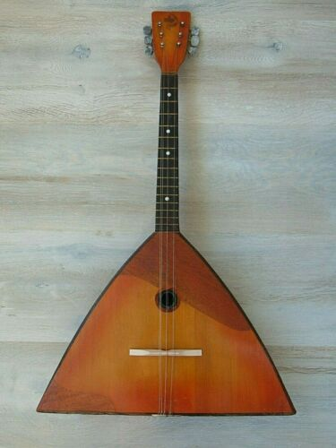 Balalaika Jubilee Prima 6 string original vintage Soviet Russian folk Instrument
