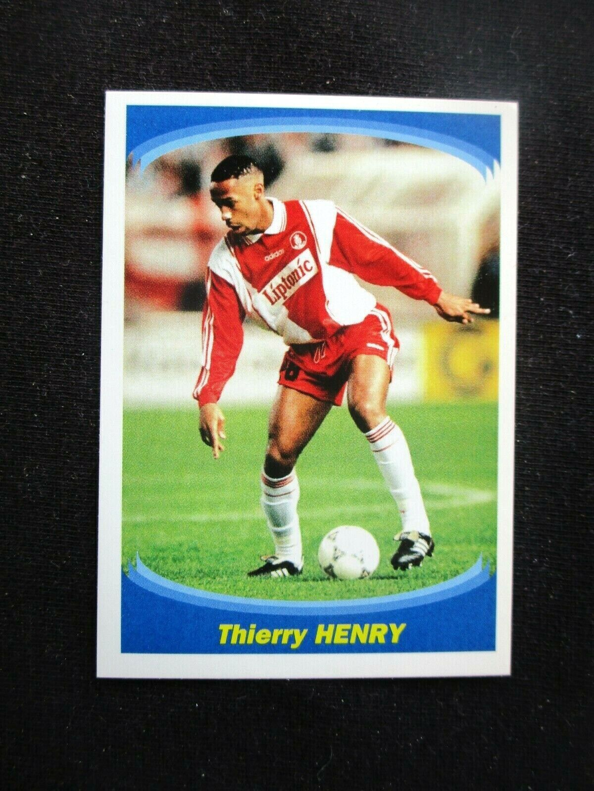 Thierry henry as monaco rookie sticker n° 137  panini superfoot 1997-1998 france