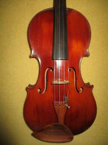 Fine Rare Antique 1860 Vintage Italian School 4/4 Violin-Good Cond-Free Shipping