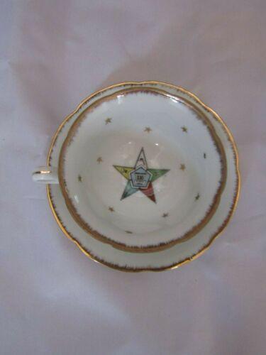 Vintage Lefton China OES Masonic Tea Cup & Saucer- Masonry- Eastern Star