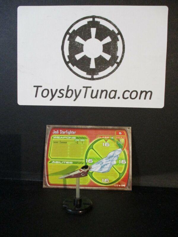 Star Wars Miniatures Starship Battles Jedi Starfighter SSB w/ Card mini RPG