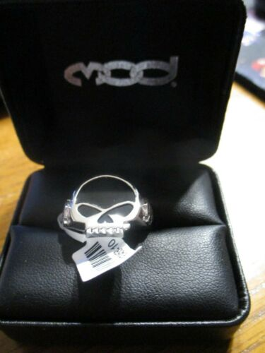 Harley Davidson Men MOD Jewelry Sterling Silver Skull Ring HDR0458-10 NEW