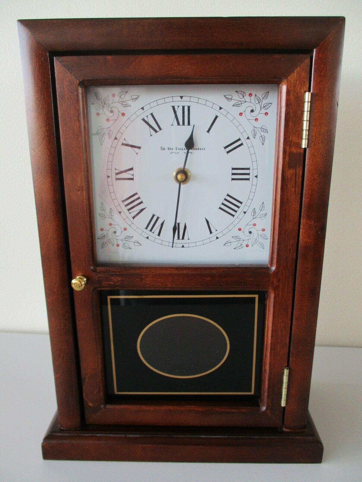 New England Clock Co Wooden Cottage Mantel Clock With Pendulum New In Box