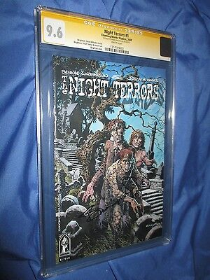 NIGHT TERRORS #1 CGC 9.6 SS Signed Bernie Wrightson ~Zombies/Horror Master!