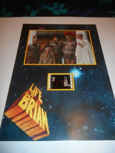 LIFE OF BRIAN - SENITYPE MOUNTED FILM CELL - WELEASE WOGER!