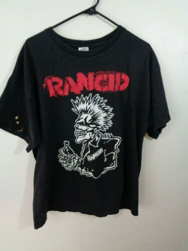 rancid shirt skeleton mohawk beer ska punk extra large xl
