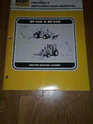 Massey-ferguson Information Manual For 30d50d Tractor Backhoe Loaders