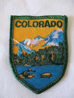 SOUVENIR VOYAGER PATCH COLORADO VINTAGE SEWING MOUNTAIN LAKE