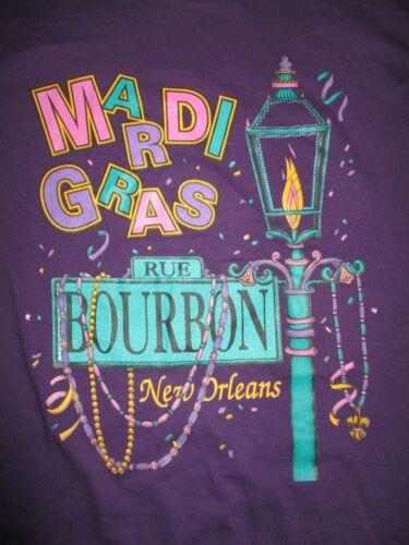 Vintage MARDI GRAS Rue BOURBON - NEW ORLEANS LA (LG) T-Shirt
