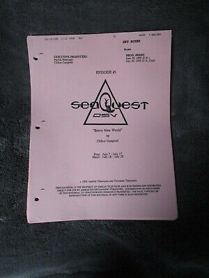 SeaQuest DSV, Brave New World, Episode #1   Script