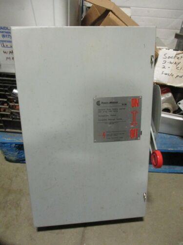 POWERMASTER G324SNK, 200 AMP 3Ø 240 VOLT FUSIBLE DISCONNECT