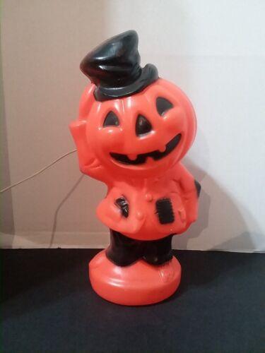 Vintage 1969 Empire Pumpkin Jack-o-Lantern JOL Scarecrow Lighted Blow-mold Mint