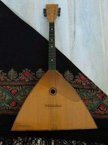 Balalaika Prima 6 string original vintage Soviet Russian folk Instrument