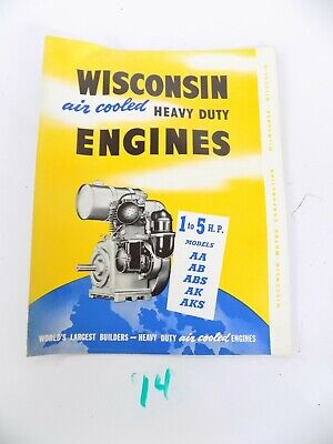 Wisconsin Air Cooled Heavy Duty Engines Aa Ab Abs Ak Aks Sales Brochure