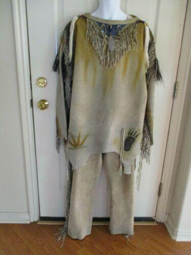 MOUNTAIN MAN Rendezvous INDIAN Buckskin SHIRT Fringe PANTS Handmade LEATHER