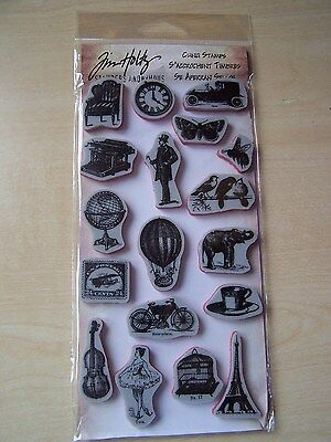 TIM HOLTZ  -CLING STAMPS- LITTLE THINGS - 18 STAMPS