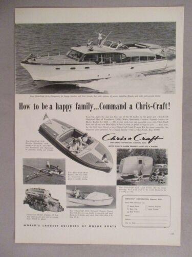 Chris-Craft PRINT AD - 1953 ~~ Conqueror