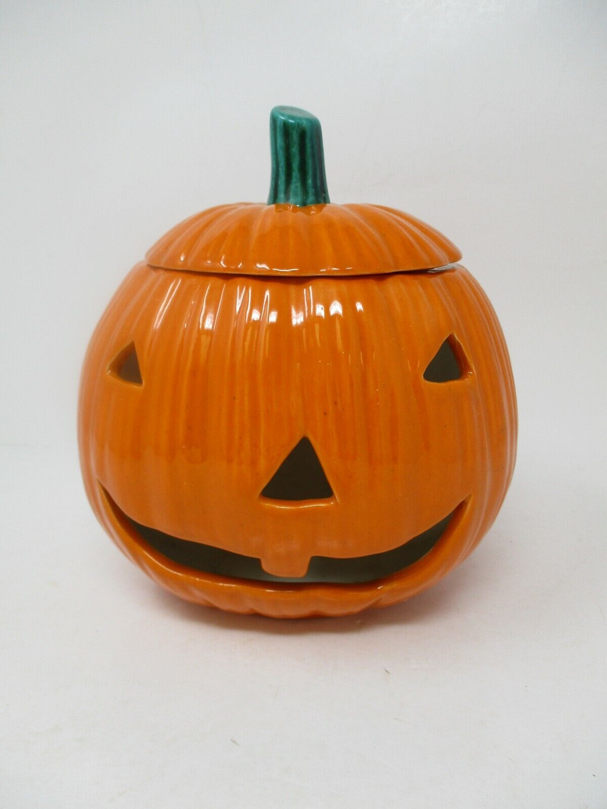 Halloween Orange Ceramic Pumpkin With Lid