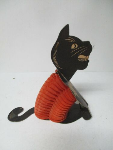 Vintage Halloween Diecut - Sitting Honeycomb Black Cat