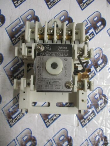 GE CR360ML204AA, 20 Amp, 600 Volt, 4 Pole 120V Coil Lighting Contactor- Warranty