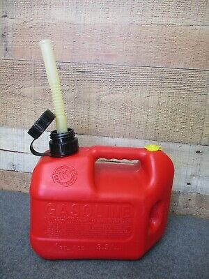 Vintage Blitz 1 Gal 4 Oz Plastic Gas Can With Old Style Spout End Cap