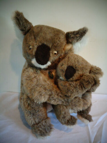 "VINTAGE 1981 DAKIN PILLOW PETS 16"" MOMMY 10"" BABY KOALA BEAR PLUSH STUFFED TOYS"