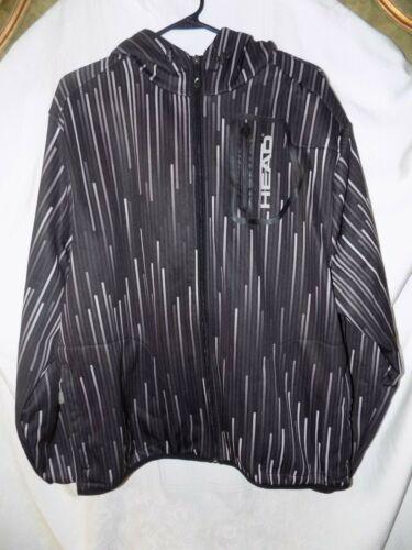 HEAD sporting gear tennis jacket coat size L black gray unisex men or women
