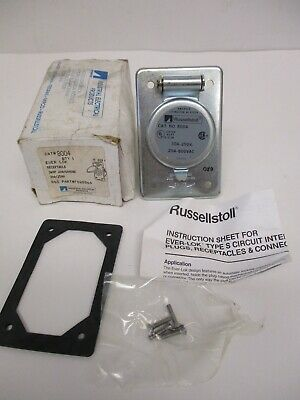 Russellstoll Cat 8004 Receptacle Ever Lok 3w4p 20a600vac 30a250v Pn F028864