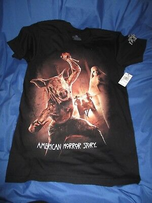 HALLOWEEN HORROR NIGHTS Universal Studios AMERICAN H. STORY T-Shirt 2017 X-SMALL - Sm 2017 Halloween