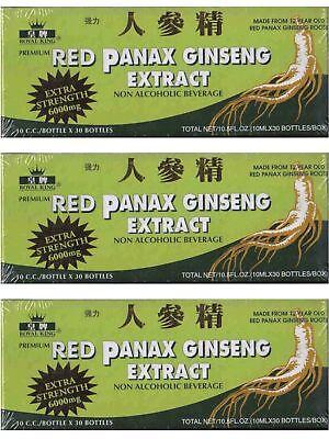 60x Bottles Red Panax Ginseng Green Extra Royal King - 2 BOXES - EXTRA 6000mg