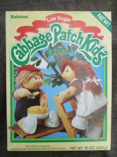 VINTAGE 1985 CABBAGE PATCH KIDS DOLLS RALSTON CEREAL BOX SEALED FULL w PRIZE
