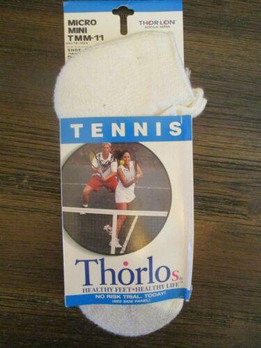 NEW Thor-Lo Thorlo 86% Hi-Bulk Acrylic White Ankle Socks Sport Tennis USA