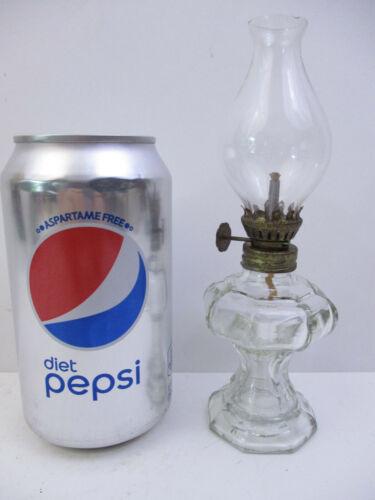 "MINI OIL LAMP CLEAR GLASS - 8 SIDED - 6 1/2""(AQC1)"