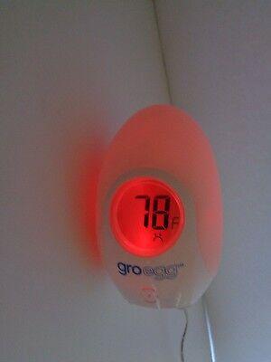 Baby Nursery Thermometer Gro Egg Infant Newborn Temperature Night Light Lamp