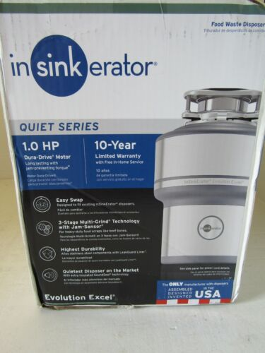 New Insinkerator 1.0 HP Plus Quiet Series Garbage Disposal with Power Cord Kit