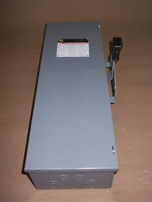 New Square D Dtu361 30 Amp 600v 3 Phase Non-fusible Manual Transfer Switch