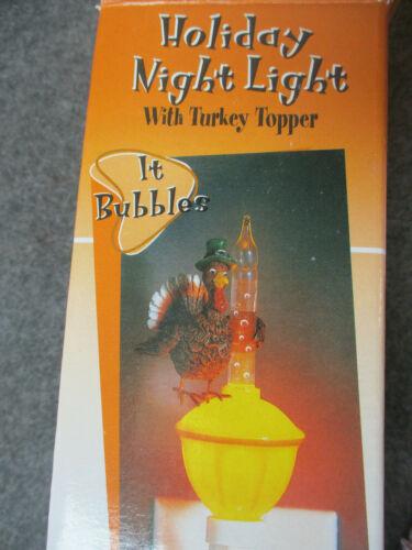 Thanksgiving Turkey Bubble Night Light - Roman