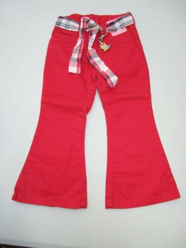 Gymboree Red Puppy School Yorkie Dog Adjustable Waist Pants Size 3 NWT
