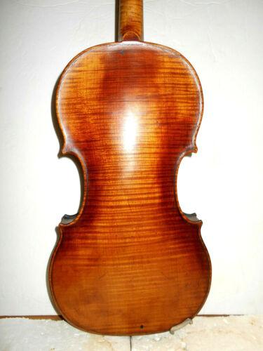 """Antique Old Vintage German Markneukirchen """"Heinel"""" 1 Pc. Back Full Size Violin"""