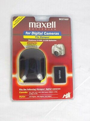 Maxell Battery for Digital Cameras Fits Olympus  DC3710CP W/Charger & Case -
