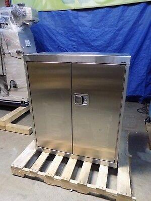 Sandusky Stainless Steel Storage Cabinet 3-shelf 42 X 36 X 18 Damaged