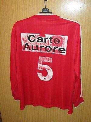 Maillot shirt jersey porté N° 5 Coupe France 1998-1999 BREST REIMS NIMES NANCY ? image