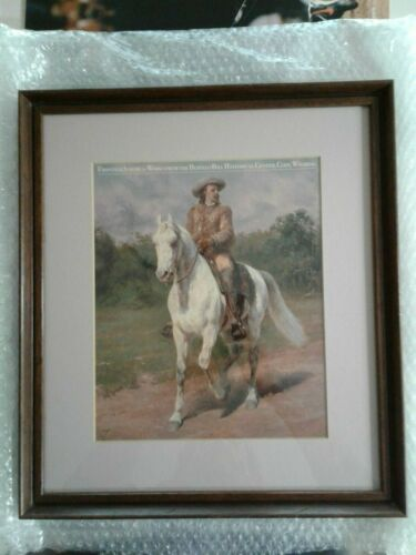 Buffalo Bill Art Collection Reproduced Photos + Framed Print free shipping in US